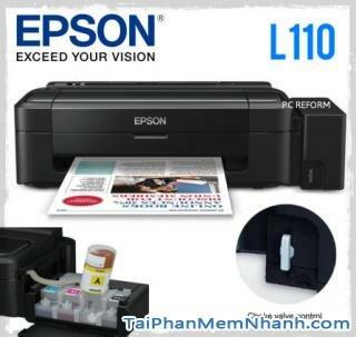 Tải driver cài đặt máy in Epson l110, driver epson l110, cài đặt epson l110