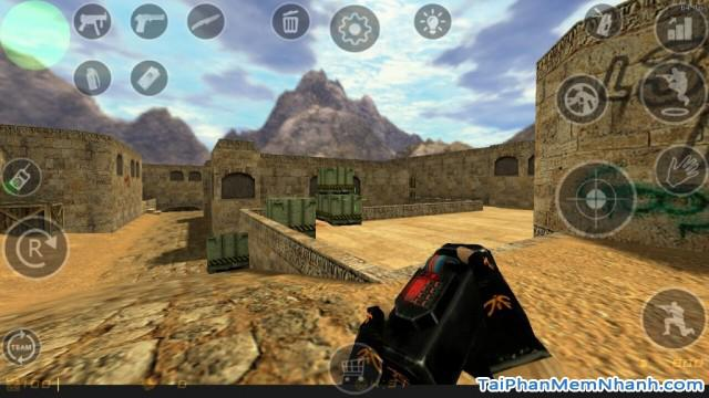 giao diện game counter strike 1.6 client trên Android