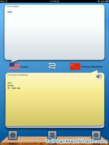 Hình 2 - Tải ứng dụng dịch ngôn ngữ Hello Translator HD cho iPad, iPhone
