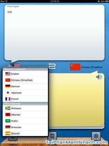 Hình 3 - Tải ứng dụng dịch ngôn ngữ Hello Translator HD cho iPad, iPhone