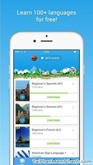 Hình 2 - Tải và cài đặt Memrise - Học hơn 100 ngôn ngữ cho điện thoại iphone
