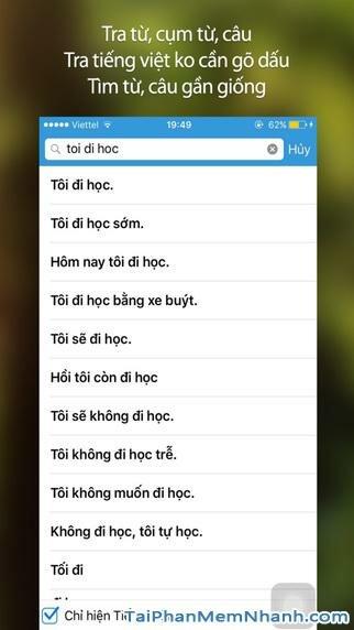 Hình 3 - Tải Vietnamese English Dictionary - Tra từ điển Anh Việt cho iPhone