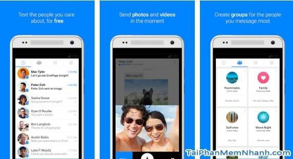 Hình 2 - Giới thiệu và tải ứng dụng Messenger cho Android