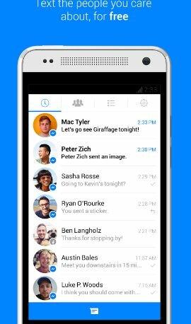 Hình 3 - Giới thiệu và tải ứng dụng Messenger cho Android
