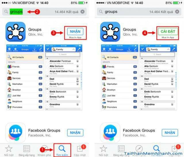 Hình 3 - Hướng dẫn xóa một hoặc nhiều danh bạ trên điện thoại iPhone
