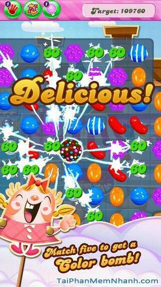 Hình 2 - Tải game kẹo ngọt Candy Crush Saga cho iPhone, iPad