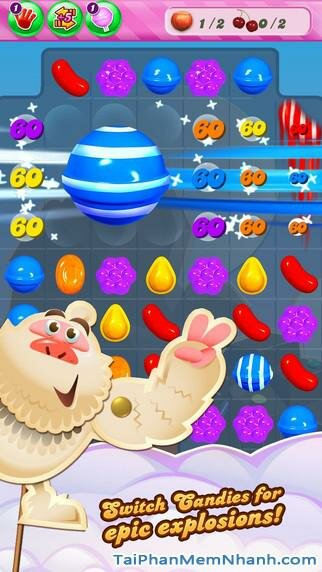 Hình 3 - Tải game kẹo ngọt Candy Crush Saga cho iPhone, iPad