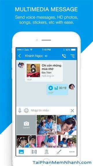Hình 3 - Tải Zalo - Ứng dụng gọi điện, nhắn tin miễn phí cho iPhone, iPad