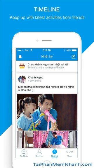 Hình 5 - Tải Zalo - Ứng dụng gọi điện, nhắn tin miễn phí cho iPhone, iPad