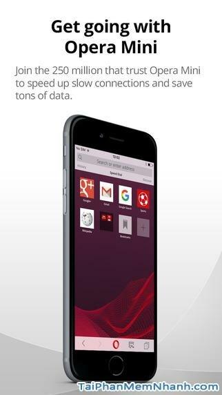 Hình 2 - Tải Opera Mini  - Ứng dụng lướt Web nhanh cho iPhone, iPad