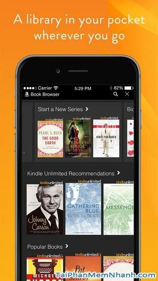 Hình 3 - Tải phần mềm đọc truyện Kindle cho iPhone, iPad