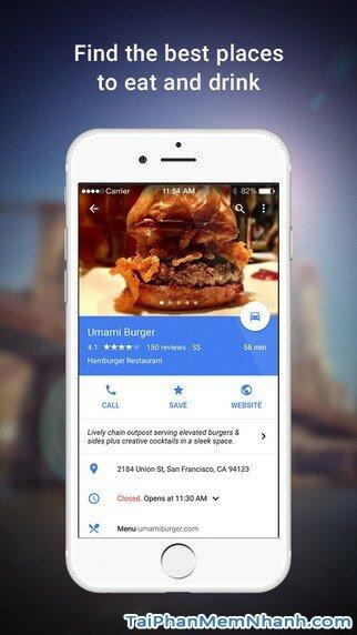Hình 4 - Tải ứng dụng Xem bản đồ Google Maps cho iPhone, iPad