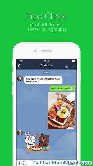 Hình 2 - Tải Line - Ứng dụng nhắn tin, gọi điện miễn phí cho iPhone, iPad
