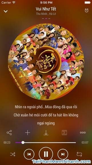Hình 2 - Tải Zing MP3 - Ứng dụng nghe nhạc miễn phí cho iPhone, iPad