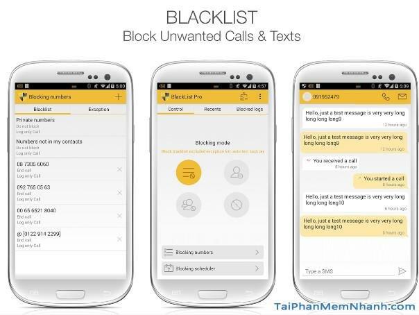 Hình 2 Tải ứng dụng chặn tin nhắn rác, cuộc gọi Blacklist cho Android