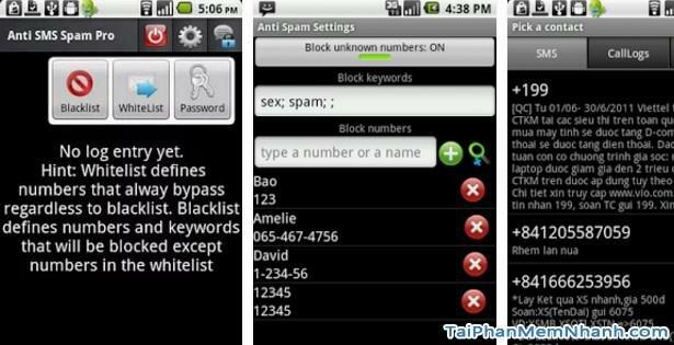 Hình 2 Tải phần mềm chặn tin nhắn Anti SMS cho Android