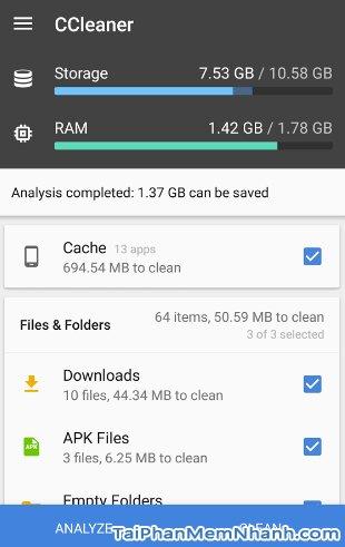 Hình 4 Tải CCleaner - Ứng dụng tăng tốc điện thoại, dọn dẹp rác cho Android