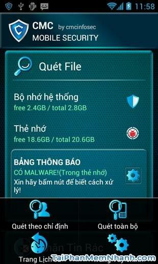 Hình 2 Tải ứng dụng bảo vệ điện thoại CMC Mobile Security cho Android