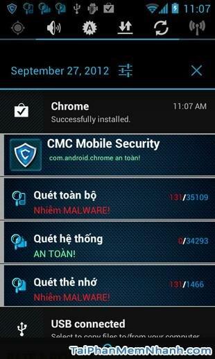Hình 3 Tải ứng dụng bảo vệ điện thoại CMC Mobile Security cho Android