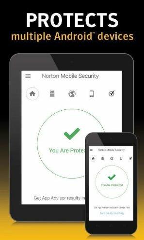 Hình 2 Tải phần mềm bảo vệ dữ liệu, diệt virut Norton Security antivirus cho Android