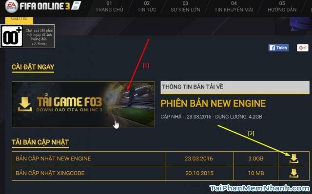 chọn phiên bản tải game fifa online 3