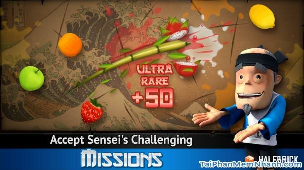 Hình 2 Tải trò chơi chém hoa quả Fruit Ninja Free cho Android