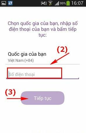 Hình 4 Hướng dẫn sử dụng Viber cho điện thoại Android