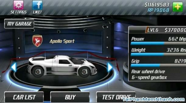 Hình 4 Tải trò chơi đua xe Drag Racing cho Android