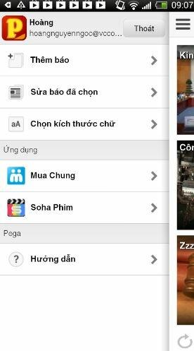Hình 2 Tải Pega - Ứng dụng đọc tin tức cho Android