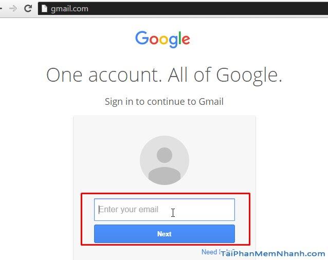 giao diện đăng nhập gmail