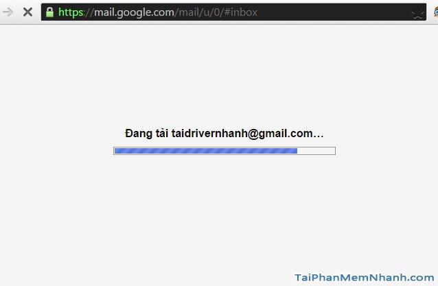 đang đăng nhập vào gmail
