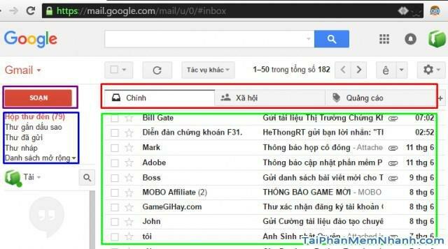 đăng nhập gmail thành công - Gmail đăng nhập hoàn tất