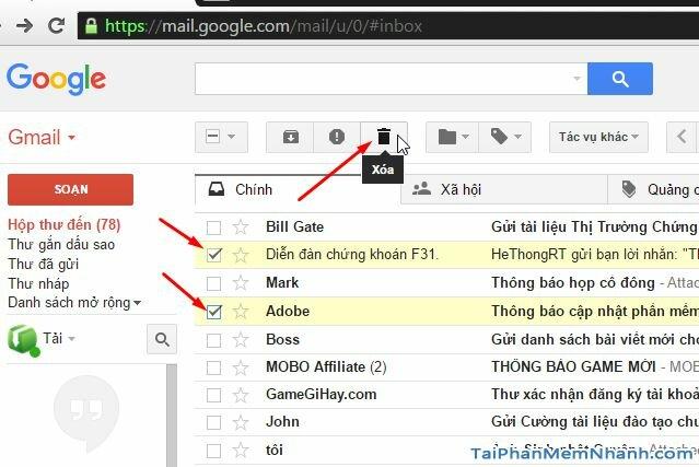 cách xóa Gmail