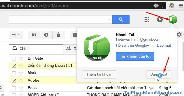cách đăng xuất gmail