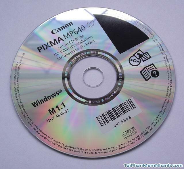 đĩa driver may in canon MP280