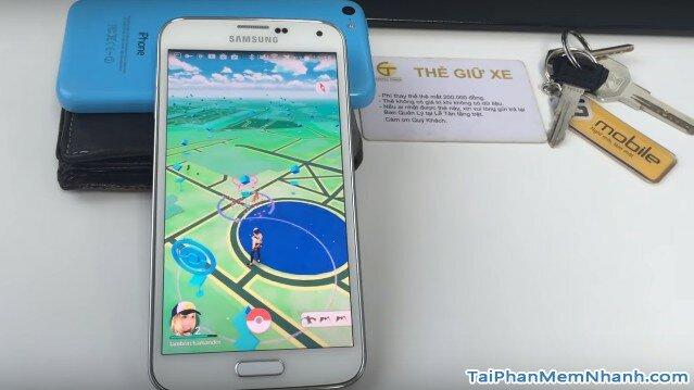 giao diện bản đồ đường phố của Pokemon GO