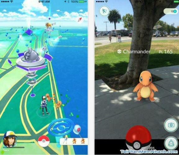 giao diện trực quan của Pokemon Go