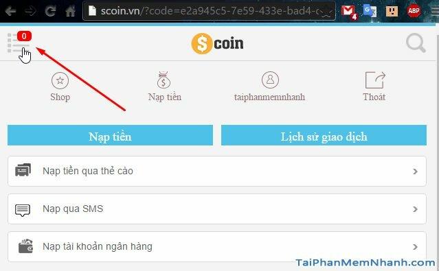menu đổi mật khẩu truy kích