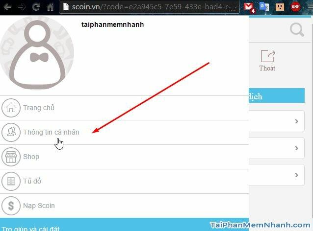 thông tin cá nhân tài khoản truy kích