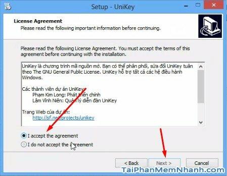 đồng ý chính sách Unikey