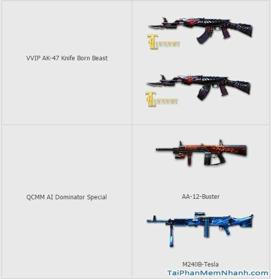 vũ khí game đột kích 1226