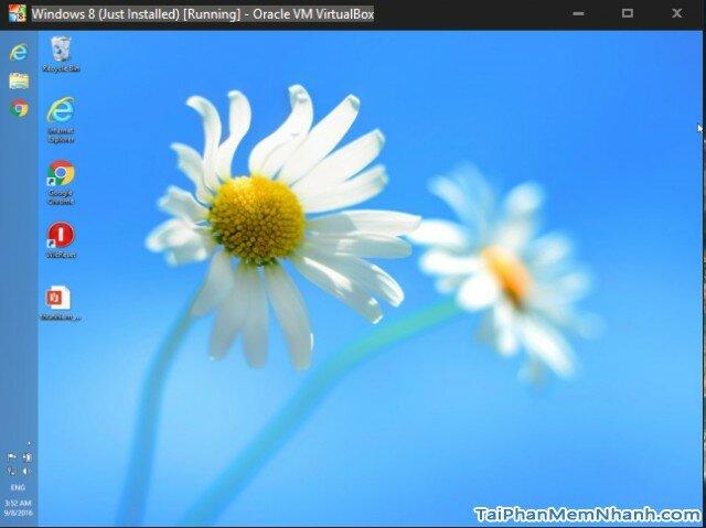 phiên bản Windows 8 cài trên Virtualbox