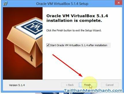 cài đặt virtualbox thành công