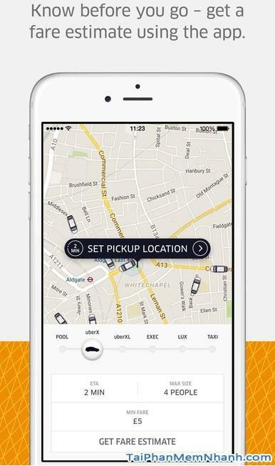 Tải Uber - ứng dụng gọi taxi cho iphone - Hình 2