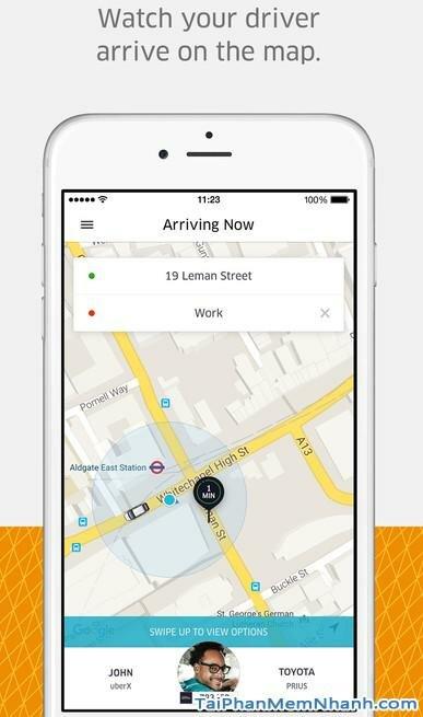 Tải Uber - ứng dụng gọi taxi cho iphone - Hình 3
