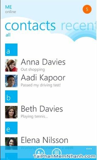 tải skype cho Windows Phone - Hình 3