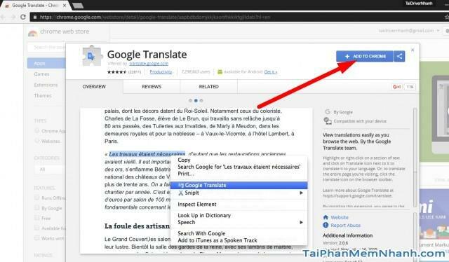 Tiện ích Google Translate