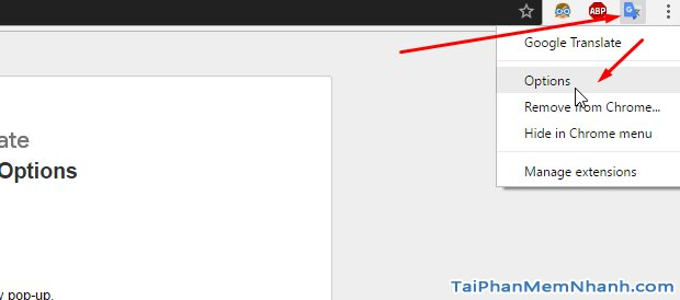 cài đặt dịch tiếng việt cho Google Translate trên Chrome
