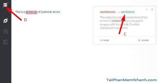 sửa lỗi ngữ pháp với Grammarly