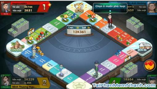 chế độ đấu đơn 4 người trên bàn cờ tỷ phú